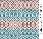 ethnic rhombus tribal seamless... | Shutterstock . vector #531800125