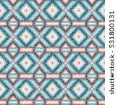 ethnic rhombus tribal seamless... | Shutterstock . vector #531800131