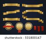 golden ribbon set. | Shutterstock .eps vector #531800167