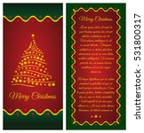 merry christmas greeting card ... | Shutterstock .eps vector #531800317
