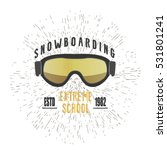 vintage snowboarding or winter... | Shutterstock .eps vector #531801241
