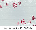 winter wooden snowy background... | Shutterstock .eps vector #531803104