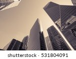 skyscrapers with glass facade.... | Shutterstock . vector #531804091