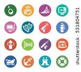 fishing icons | Shutterstock .eps vector #531804751