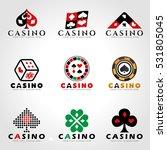 casino and card poker logo sign ... | Shutterstock .eps vector #531805045