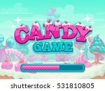candy game title loading screen....