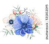elegant watercolor flower... | Shutterstock . vector #531812095