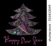 happy new year and merry... | Shutterstock .eps vector #531813049