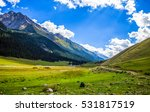 mountain valley landscape | Shutterstock . vector #531817519