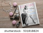 makeup products  magazine and... | Shutterstock . vector #531818824