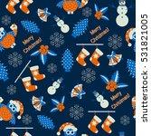 seamless vector christmas... | Shutterstock .eps vector #531821005