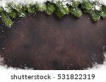 christmas stone background with ... | Shutterstock . vector #531822319