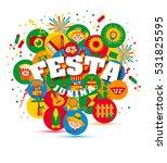 festa junina village festival... | Shutterstock . vector #531825595