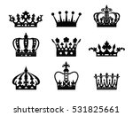 crown isolated on white... | Shutterstock .eps vector #531825661