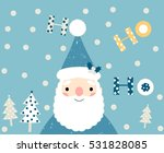 blue christmas greeting card... | Shutterstock .eps vector #531828085