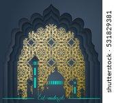 islamic vector design eid... | Shutterstock .eps vector #531829381