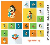 happy mothers day simple flat... | Shutterstock .eps vector #531832465