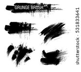 vector set of grunge brush... | Shutterstock .eps vector #531833641