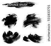 vector set of grunge brush... | Shutterstock .eps vector #531833701