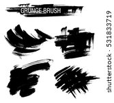 vector set of grunge brush... | Shutterstock .eps vector #531833719
