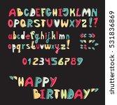 bright abc for kids  uppercase...   Shutterstock .eps vector #531836869