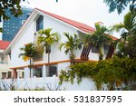 two floors house with red roof  ... | Shutterstock . vector #531837595