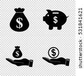 money   vector icon  set   ... | Shutterstock .eps vector #531841621