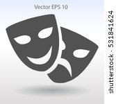 theatrical masks laughter and... | Shutterstock .eps vector #531841624