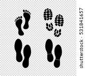 foot print  vector icon set | Shutterstock .eps vector #531841657
