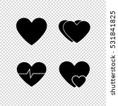 heart    vector icon  set | Shutterstock .eps vector #531841825