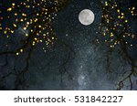 background with moon. | Shutterstock . vector #531842227