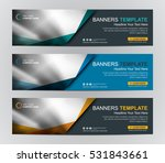 Abstract Web banner design background or header Templates | Shutterstock vector #531843661
