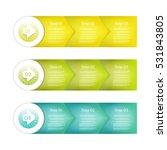 set of three version   vector... | Shutterstock .eps vector #531843805
