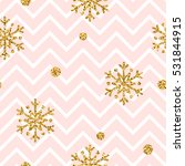 christmas gold snowflake... | Shutterstock .eps vector #531844915