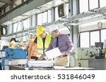 architect and manual worker... | Shutterstock . vector #531846049