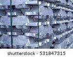 heap of aluminium bar  aluminum ... | Shutterstock . vector #531847315