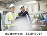 mid adult male supervisors... | Shutterstock . vector #531849019