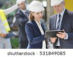 businessman and businesswoman... | Shutterstock . vector #531849085