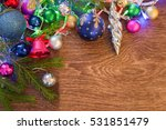christmas decorations on a... | Shutterstock . vector #531851479