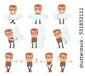 set of smart and cute character ... | Shutterstock .eps vector #531853111