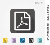 colored icon of pdf document... | Shutterstock .eps vector #531855469
