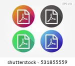 colored icon of pdf document... | Shutterstock .eps vector #531855559