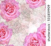 seamless pattern with flowers...   Shutterstock . vector #531859909