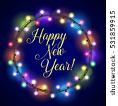 new year greeting card design... | Shutterstock .eps vector #531859915