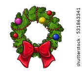 colorful hand drawing christmas ... | Shutterstock .eps vector #531863341