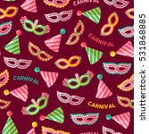 seamless pattern with carnival... | Shutterstock .eps vector #531868885