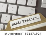 staff training. index card on... | Shutterstock . vector #531871924