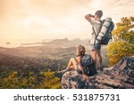 couple of tourist with... | Shutterstock . vector #531875731