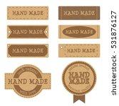 set of vintage textured... | Shutterstock .eps vector #531876127