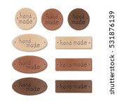 set of textured leather tags... | Shutterstock .eps vector #531876139